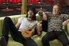 "Aldous Snow (RUSSELL BRAND) spends time bonding with father Jonathan (COLM MEANEY) in ""Get Him to the Greek"""