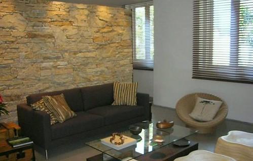 decoração casa com pedras