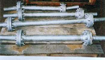 "Four ""Ball Type"" Flexible Strut Joints"