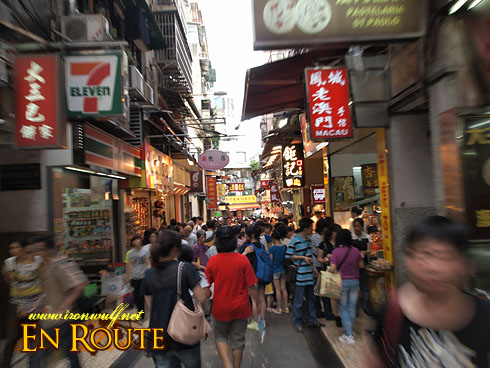 Souvenir Street Market Crowd