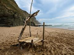 - a fora ACAROS - our construction (Andr Iannucci) Tags: sea praia beach mar sand areia sintra olympus contruo acaros andreiannucci andreiannuccisintraolympus