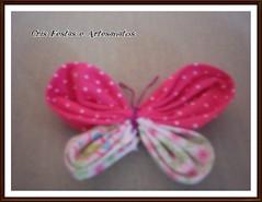 fuxico borboleta (Cris Festas e) Tags: fuxico pap idéia lembrancinhas dicas