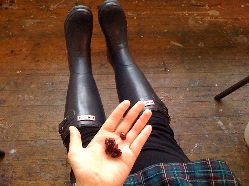 Wearing my new Hunter Boots