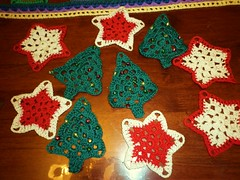 Christmas decorations (hooked on yarn) Tags: crochet christmasdecorations royalsisters