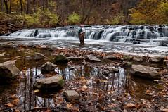 Postcard Falls (Mike Mulhisen) Tags: autumn fishing fisherman fallfoliage waterfalls postcardfalls