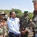 Somali prime minister Mohamed Abdulahi Mohamed and Somalia Government  soldiers