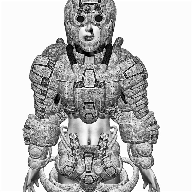 Snow Full Primitive Armor for female