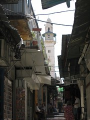 Minaret in the Old City (abragrace) Tags: israel alley minaret jerusalem turret oldcity