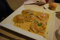 Spain: Agnolotti stuffed with pumpkin and cheese