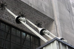 NYC: Graybar Building - Rats on the mooring line canopy by wallyg, on Flickr