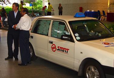 An SMRT Taxi Cab BookCross Hotspot! | Flickr - Photo Sharing!