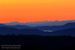 Saltspring Sunset (Russ Beinder) Tags: sunset orange mountains topf25 topv111 islands topv333 bc topc50 saltspringisland hdr graduated transitions wowiekazowie flickrelite 2007070500078