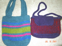 Felted tote & purse