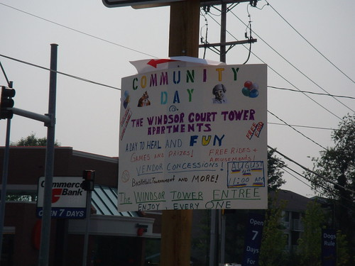 Community Day Sign, Briggs Chaney Road at Castle Boulevard