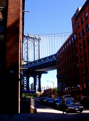 Encroaching buildings (Ann Althouse) Tags: brooklyn buildings manhattanbridge