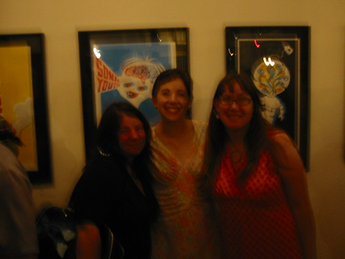 Christina, Diane and me at the ReadyMade party