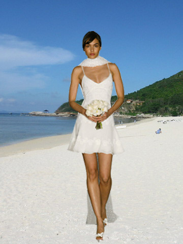 beach wedding and sexy dress