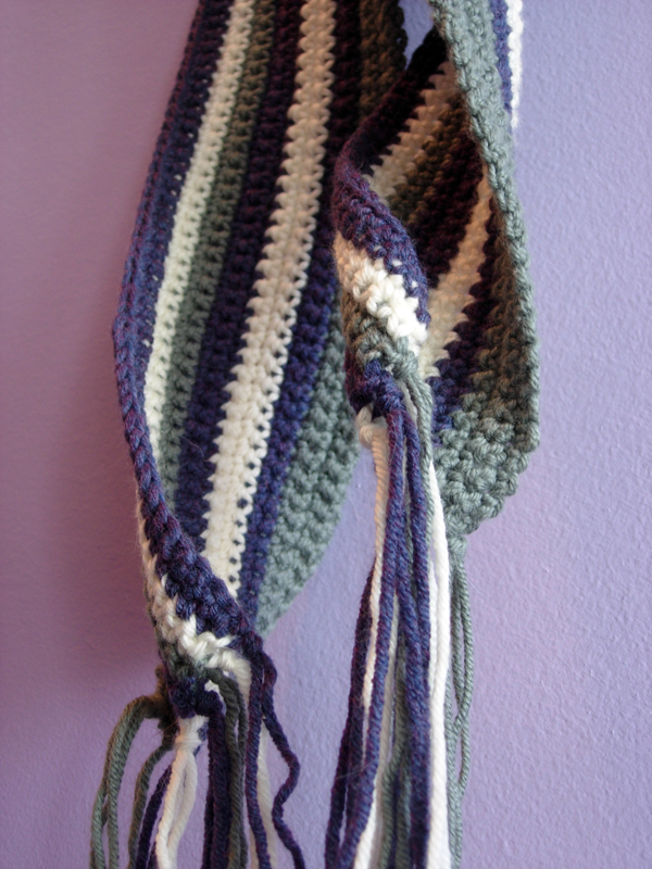 Prime Stripes Crochet Scarf - Curly Ends