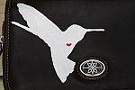 Humming Heart Hand Painted Hummingbird Purse (Upcycled)