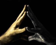 Light is....(52-25) (Dampkring) Tags: light selfportrait me hand darkness lowkey 52 ursulaleguin lefthandofdarkness