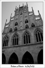 Münster (Westfalen) - 6 (Skyart82) Tags: bw building monochrome architecture germany deutschland town hall europe gothic frieden age stadt architektur middle rathaus münster munster gotik citi westfalen mittelalter westphalia westfälischer