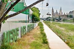 Zapatillas / Trainers (Anvica) Tags: bridge ro river puente cathedral sony catedral trainers zaragoza ebro zapatillas aragn elpilar a350 puentedesantiago