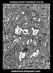 FRIENDS in LIFE - Indian Girls in my Traditional and Contemporary Art ( Pen Drawing ) - Artist Anikartick,Chennai,India (INDIAN ARTIST GALLERY welcomes You - ANIKARTICK) Tags: flowers stilllife india seascape abstract art illustration pen pencil painting sketch paint artist drawing contemporary modernart watercolour illustrator sketches madurai tamilnadu artworks conceptart indianart landscapepainting natureart oilcolour indianwomen indianpaintings indiancinema backgroundart bannerart indianpainting greatartist artistwork indiandrawings indiangirls indianbeauty indianlady chennaitamilnaduindia postercolour indianartist chennaiartist sceneryart indianscupture flickrindia chennaianimation indiangreatartist chennaianimator indiananimation chennaiart indiananimator chennaipainting calenderart indiansketches indianpendrawings indianlinedrawings indianblogspot