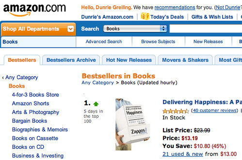 Amazon Bestsellers June 7, 2010