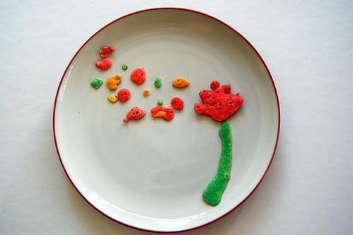 Pancake Art for Flower