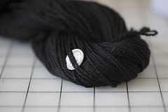 Black Merino 3-ply Fingering