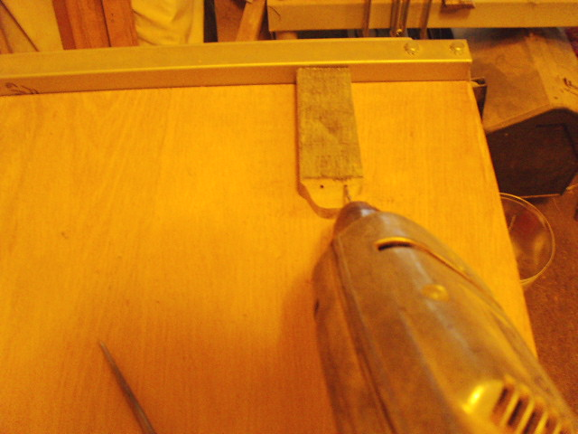 Drilling through underside at an angle