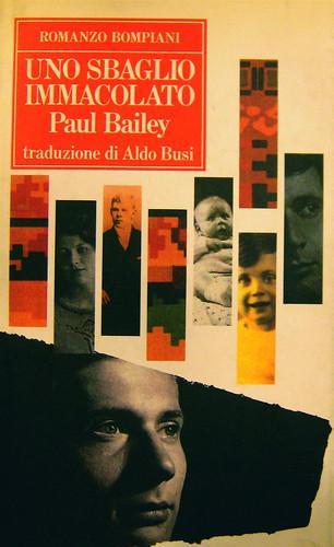 Paul Bailey, Uno sbaglio immacolato, Bompiani 1990, design della sovracoperta: Senate (part.)