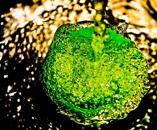 water running into beaker