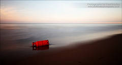 Cylinder (ScudMonkey) Tags: longexposure red sea seascape beach canon dusk pollution slowshutter cylinder waste hartlepool neengland ef24105mmf4lis nd1000 nd110 paulbradley 5dmkii