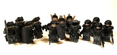 Hazel's Troops (*Nobodycares*) Tags: army amazing lego god awesome super troopers hazel ama scifi soldiers leader guns rollers armory shields uas gow sheaths juggernauts brickarms mmcb