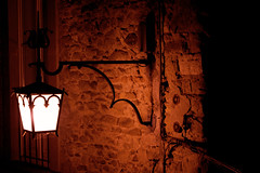 Imprisoning (Massimo Valiani) Tags: street winter light italy hot cold brick lamp wall modern night ancient iron sony cables tuscany jail massimo arezzo a350 valiani improsioning
