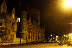 the city sleeps (ladyinpink) Tags: light sleeping england night magic oxford dreams oxforduniversity broadstreet splendour balliolcollege anawesomeshot blackribbonbeauty