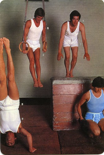 Catalog Man Underwear at the gym, a vintage catalog image provided by: ...