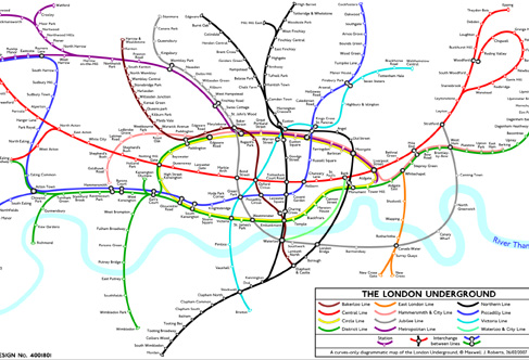 London Underground Map 2011. London Underground map are