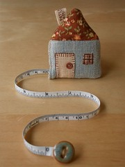 House Tape Measure (PatchworkPottery) Tags: house handmade sewing crafts country tape quilted patchwork measure measuring