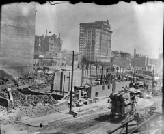 Baltimore fire ruins, 1904 (bcostin) Tags: vintage fire construction ruins baltimore scan negative 4x5 1904 toprint glassplate