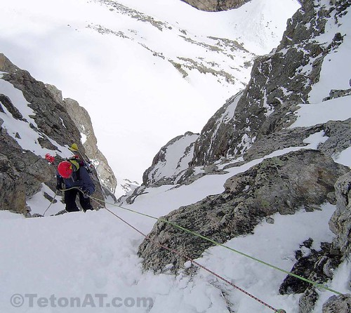 Rapping into Koch's Couloir