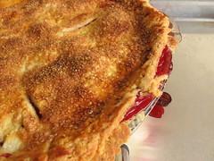 Double-Crust Deep Red Raspberry Pie