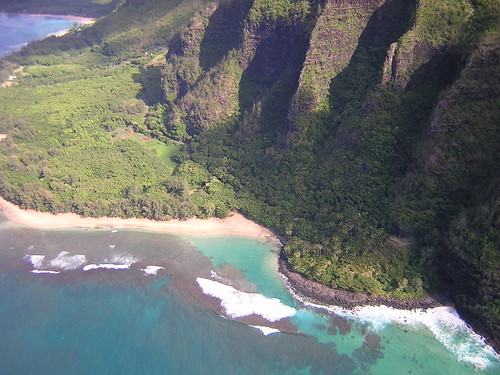 Na Pali Coast from a Helicopter