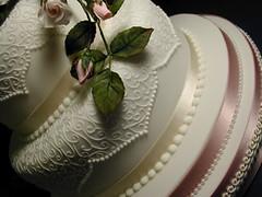 Wedding Cake for Fumi 2 (rosey sugar) Tags: pink flowers wedding roses party flower bird cake bride weddingcake decoration royal mini sugar celebration icing piping petit miniture sugarcraft fruitscake