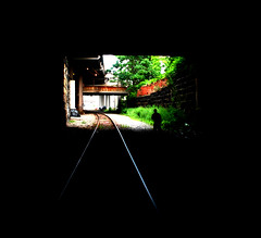 Amtrac (JCg...) Tags: black silhouette train buffalo nikon friend track explore amtrac d80 aplusphoto