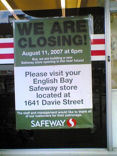 Robson Safeway is Closing
