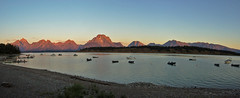 signal mountain sunrise (Melenie_S) Tags: vacation autostitch lake mountains panoramic wyoming grandtetonnationalpark