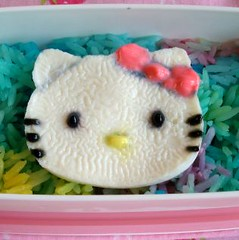 hk closeup (Sakurako Kitsa) Tags: hello white asian lunch rice egg kitty sanrio bento sakurako obento kitsa sakurakokitsa