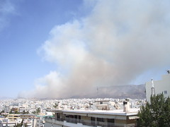 Athens on fire